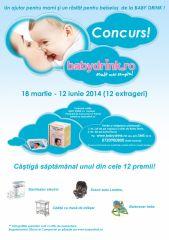 Concurs pentru mamici si bebelusi de la BabyDrink